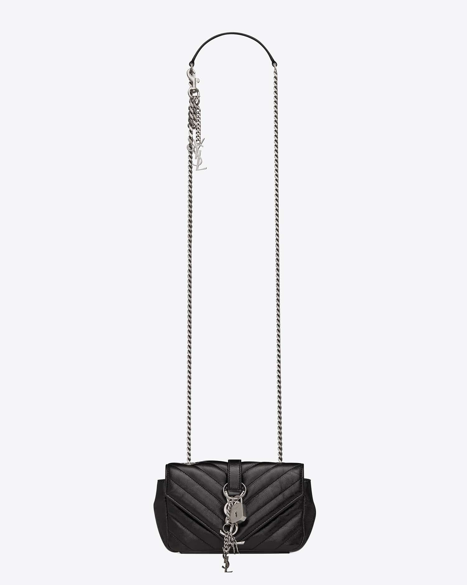54b6423e8af1c Saint Laurent Fall Winter 2015 Bag Collection Featuring Punk Chain ...
