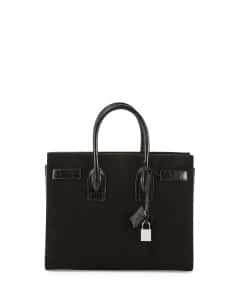 Saint Laurent Black Suede Sac De Jour Small Bag
