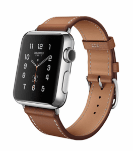 Apple Fauve Barenia Single Tour Hermes Watch 38mm