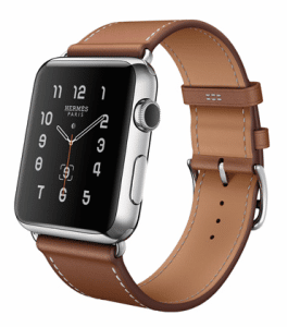 Apple Fauve Barenia Single Tour Hermes Watch 42mm
