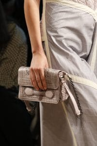 Bottega Veneta Beige Exotic Skin Flap Bag - Spring 2016
