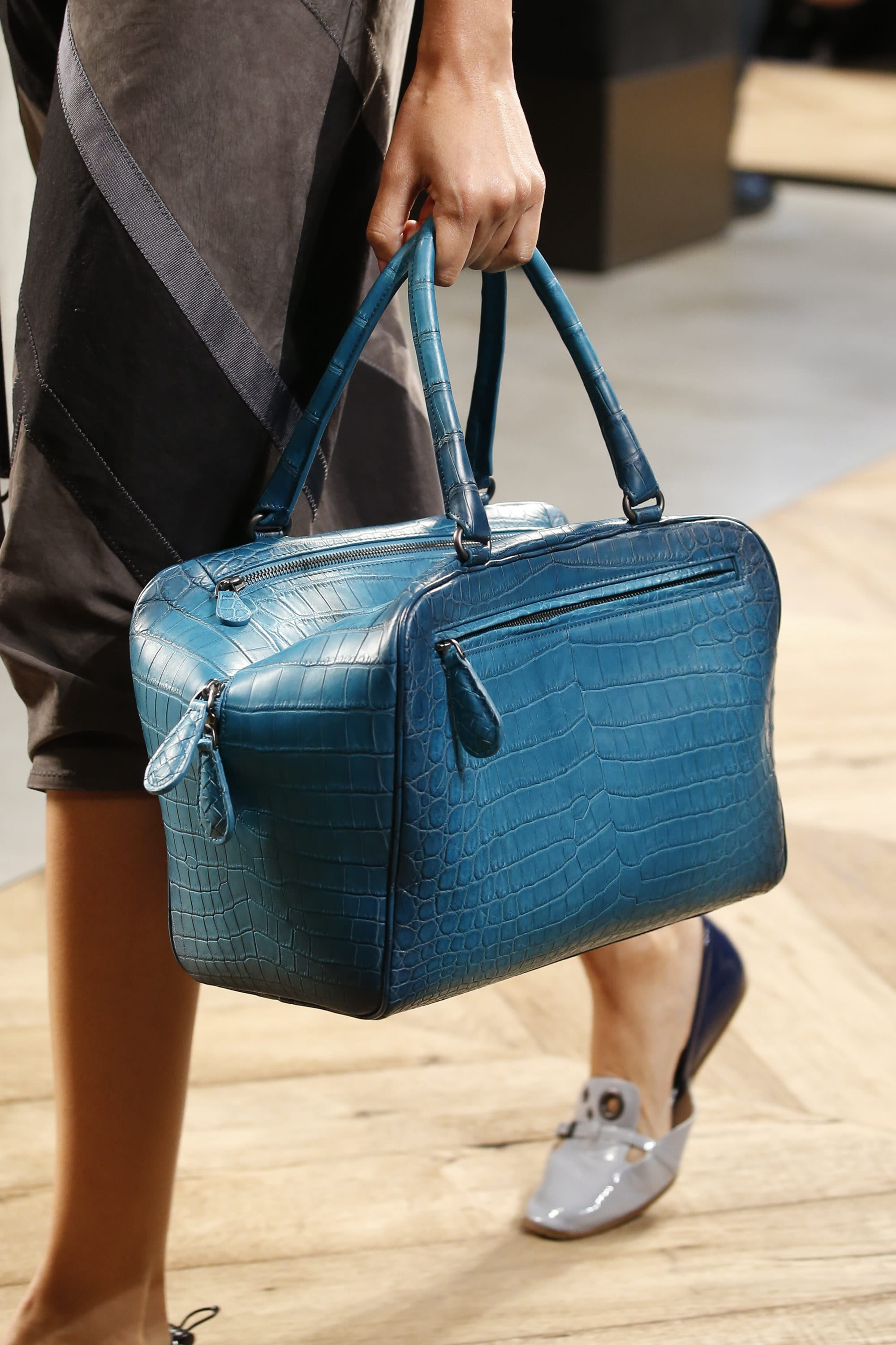 Fendi spring summer 2015 runway bag collection spotted fashion - Bottega Veneta Blue Crocodile Brera Bag Spring 2016