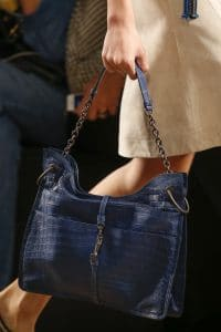 Bottega Veneta Blue Crocodile Tote Bag - Spring 2016
