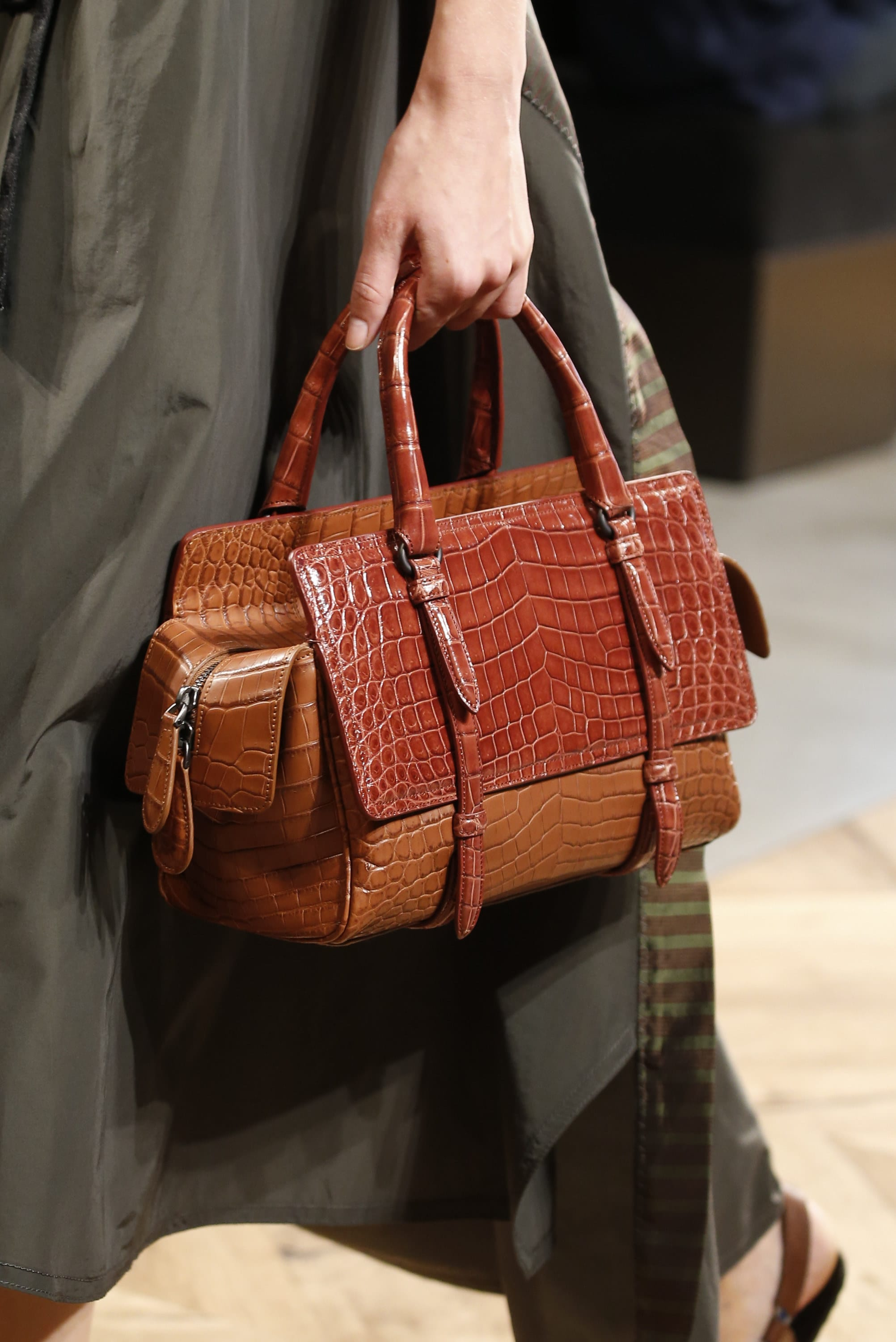 Fendi spring summer 2015 runway bag collection spotted fashion - Bottega Veneta Brown Crocodile Monaco Bag Spring 2016