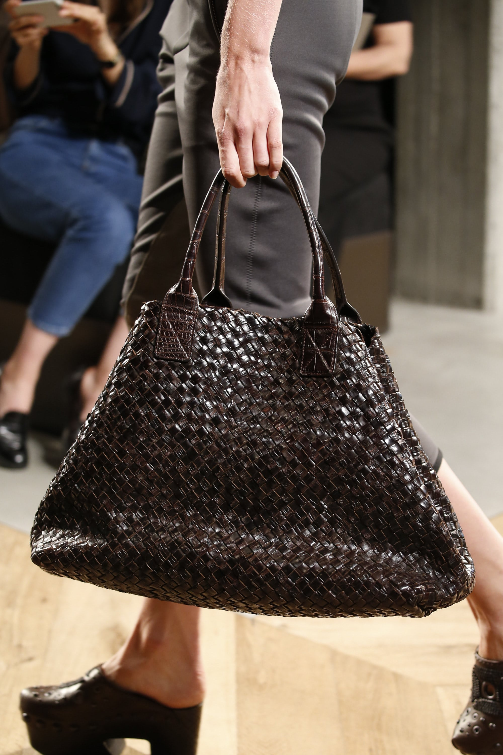 Fendi spring summer 2015 runway bag collection spotted fashion - Bottega Veneta Brown Intrecciato Cabat Bag Spring 2016