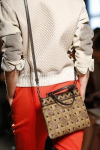 Bottega Veneta Brown/Beige Patchwork Exotic Skin Crossbody Bag - Spring 2016