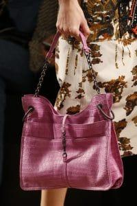 Bottega Veneta Pink Crocodile Tote Bag - Spring 2016