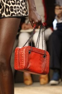Bottega Veneta Red Ayers Camera Bag - Spring 2016