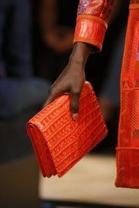 Bottega Veneta Red Crocodile Envelope Clutch Bag - Spring 2016