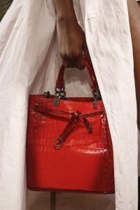 Bottega Veneta Red Crocodile Drawstring Bag - Spring 2016