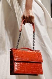 Bottega Veneta Red Crocodile Flap Bag 2 - Spring 2016