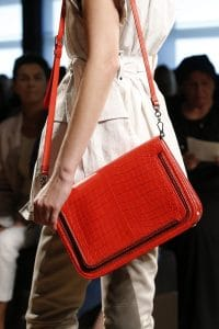 Bottega Veneta Red Crocodile Flap Bag - Spring 2016