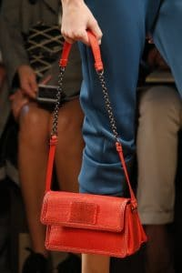 Bottega Veneta Red Crocodile:Python Flap Bag - Spring 2016