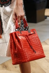 Bottega Veneta Red Intrecciato Drawstring Top Handle Bag - Spring 2016