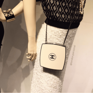 Chanel Beige/Black Compact Box Clutch Bag 3