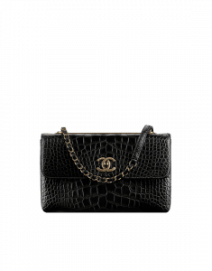 Chanel Black Alligator Trendy CC Flap Bag