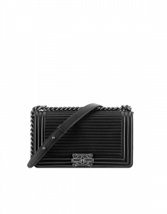 Chanel Black Boy Flap with Horizontal Quilting Old Medium Bag