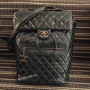 Chanel Black Calfskin Backpack Mountain Large Bag