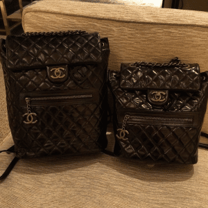 415173e7f6d7 ... Chanel Black Calfskin Backpack Mountain Large and Small Bags ...