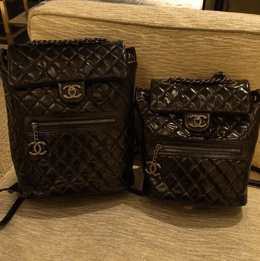 9615b4919b47 Chanel Black Calfskin Backpack Mountain Large and Small Bags. IG   parisluxeonline