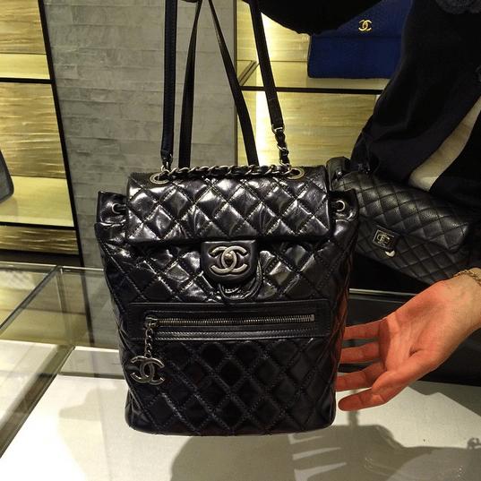 a95556a2a4c58b Chanel Black Calfskin Backpack Mountain Small Bag. IG: parisluxeonline