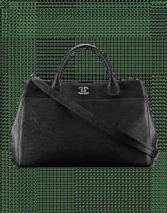 Chanel Black Calfskin Shopping Bag
