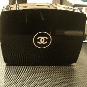 Chanel Black Compact Box Clutch Bag 1