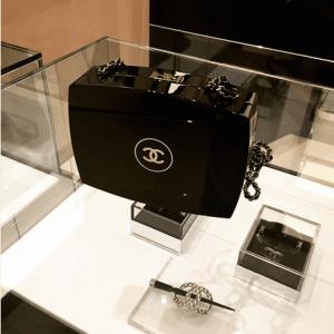 Chanel Black Compact Box Clutch Bag 2
