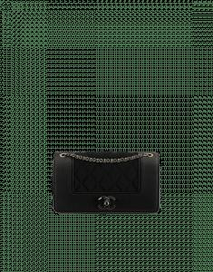 Chanel Black Grosgrain/Satin Mademoiselle Vintage Small Flap Bag