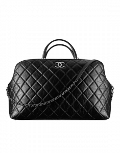 Chanel Black Quilted Large Bowling Bag