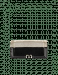 Chanel Black/Gold Boy Clutch Bag