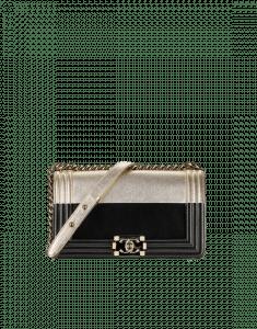 Chanel Black/Gold Boy Flap Old Medium Bag
