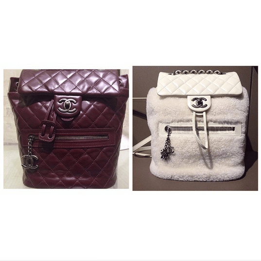 3e63be0c925e Chanel Burgundy Calfskin and White Shearling Backpack Mountain Bags. IG   shopping a