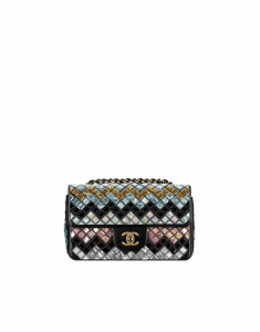 Chanel Muliticolor Mosaic Embroidered Small Flap Bag 2