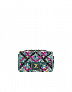 Chanel Muliticolor Mosaic Embroidered Small Flap Bag