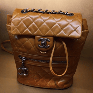 Chanel Tan Calfskin Backpack Mountain Large Bag