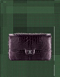 Chanel Violet Alligator Large Flap Bag