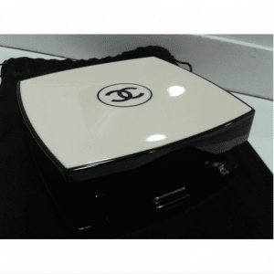 Chanel White/Black Compact Box Clutch Bag 6