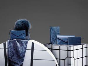 Delvaux Bleu De Prusse Message Ambigu Clutch/Signature Clutch/Echarpe Exotique/Bracelet Double Illusion/Brin de Folie/Signature Clutch Bags