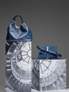 Delvaux Bleu de Prusse Givry with Me and Givry Bags