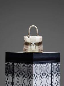 Delvaux Ivory Crocodile Brillant Mini Bag