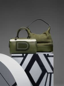 Delvaux Kaki Louise Boston and Every D Hobo Bags