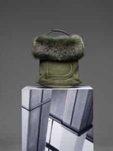 Delvaux Kaki Pin Bag
