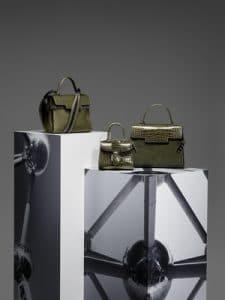 Delvaux Kaki Tempete MM:Tempete Sangle:Brillant Mini:Tempete GM Bags