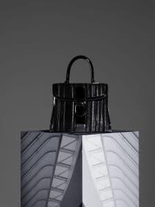 Delvaux Noir Canvas Brillant MM Bag