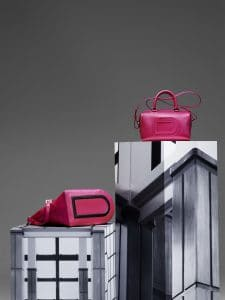 Delvaux Rose Indien Every D Tote and Louise Boston PM Bags