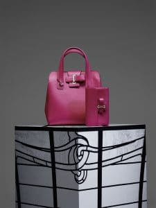 Delvaux Rose Indien Simplissime Tote PM Bag and Simplissime Travel Wallet