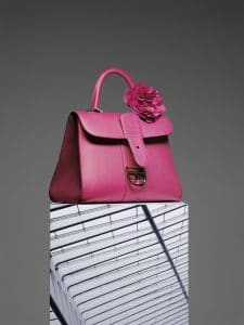 Delvaux Rose Indien with Peony Charm Brillant GM Bag