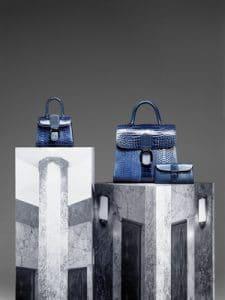 Delvaux Bleu de Prusse Alligator/Python/Lizard Brillant Mini/Brillant Black Edition and Brillant Portefeuille Bag