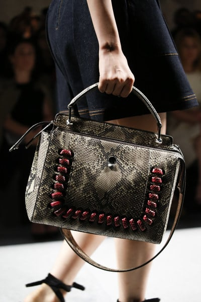 Fendi Spring Summer 2016 Runway Bag Collection featuring the Dot . 36b05fb72f1d3